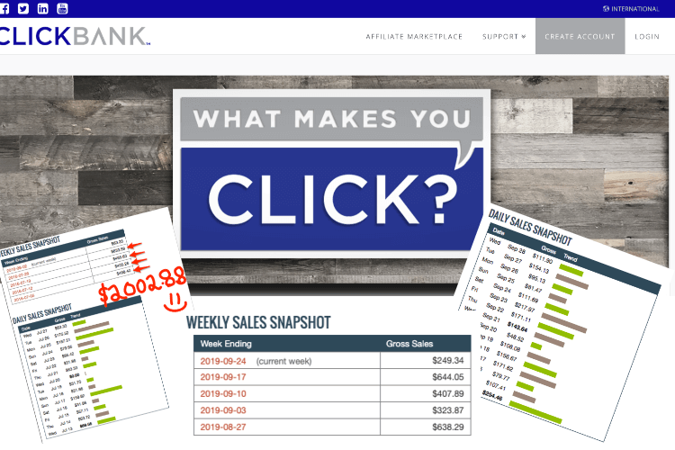 ClickBank and income reports