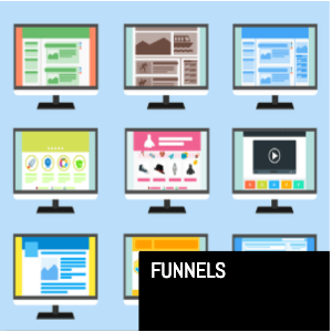 Funnels on computer screens