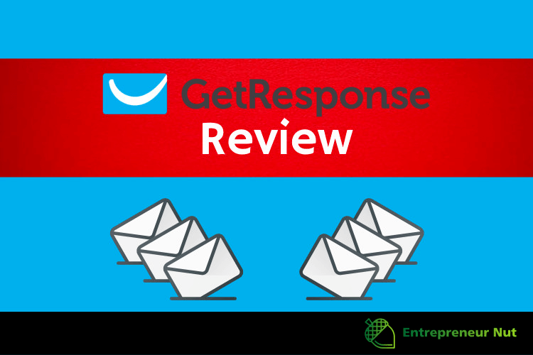 my GetResponse review image with logo and envelopes