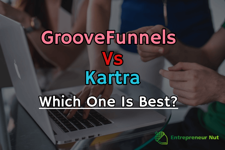 GrooveFunnels vs Kartra picture with people looking at the laptop