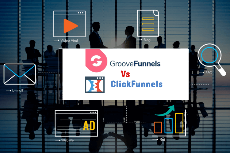 GrooveFunnels vs ClickFunnels - people in a business meeting