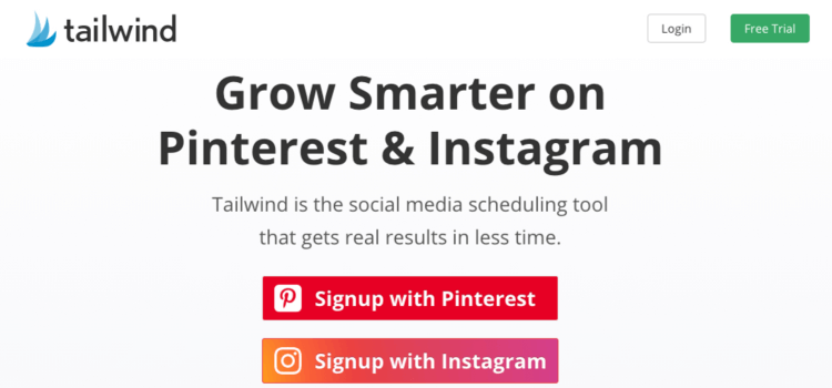 TailWind social manager for Pinterest