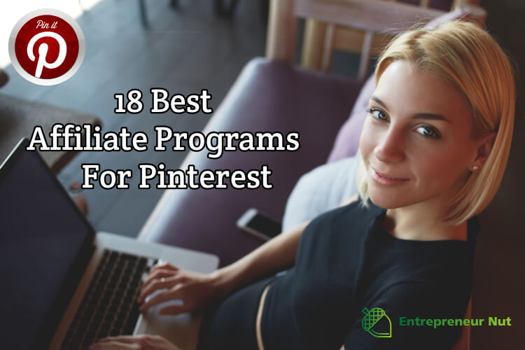 A woman on a laptop looking for affiliate programs for Pinterest