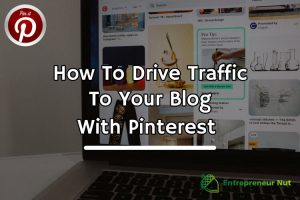 A laptop showing Pinterest traffic to a blog