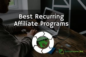A man on a laptop looking for the best recurring affiliate programs