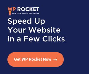 WP Rocket banner
