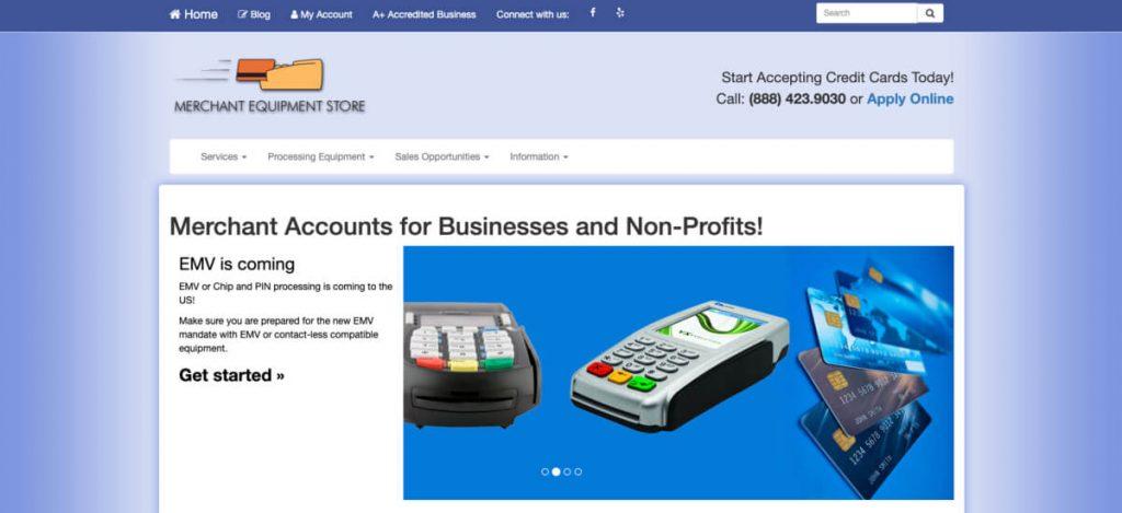 Merchant Equipment Store program